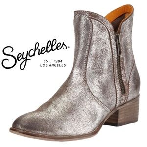 Seychelles Metallic Lucky Penny Western Booties
